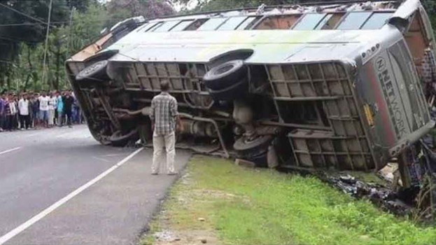 Two killed in bus accident