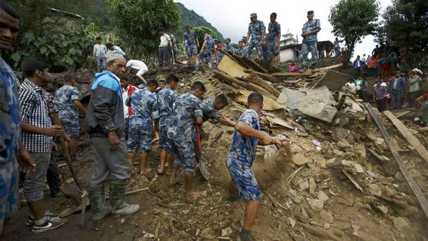 36 Killed, 12 missing in floods and landslides across Nepal