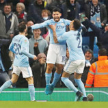 League Cup: City get advantage after Aguero heads last-gasp winner