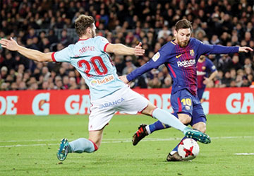 King's Cup: Messi double helps Barca reach quarters