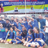 State level Hangpan Dada memorial trophy: West Siang lifts women's football title